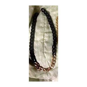 Women's Black & gold chain necklace